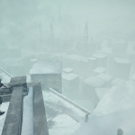 DSII DLC3 04 Looking down on the city covered in snow