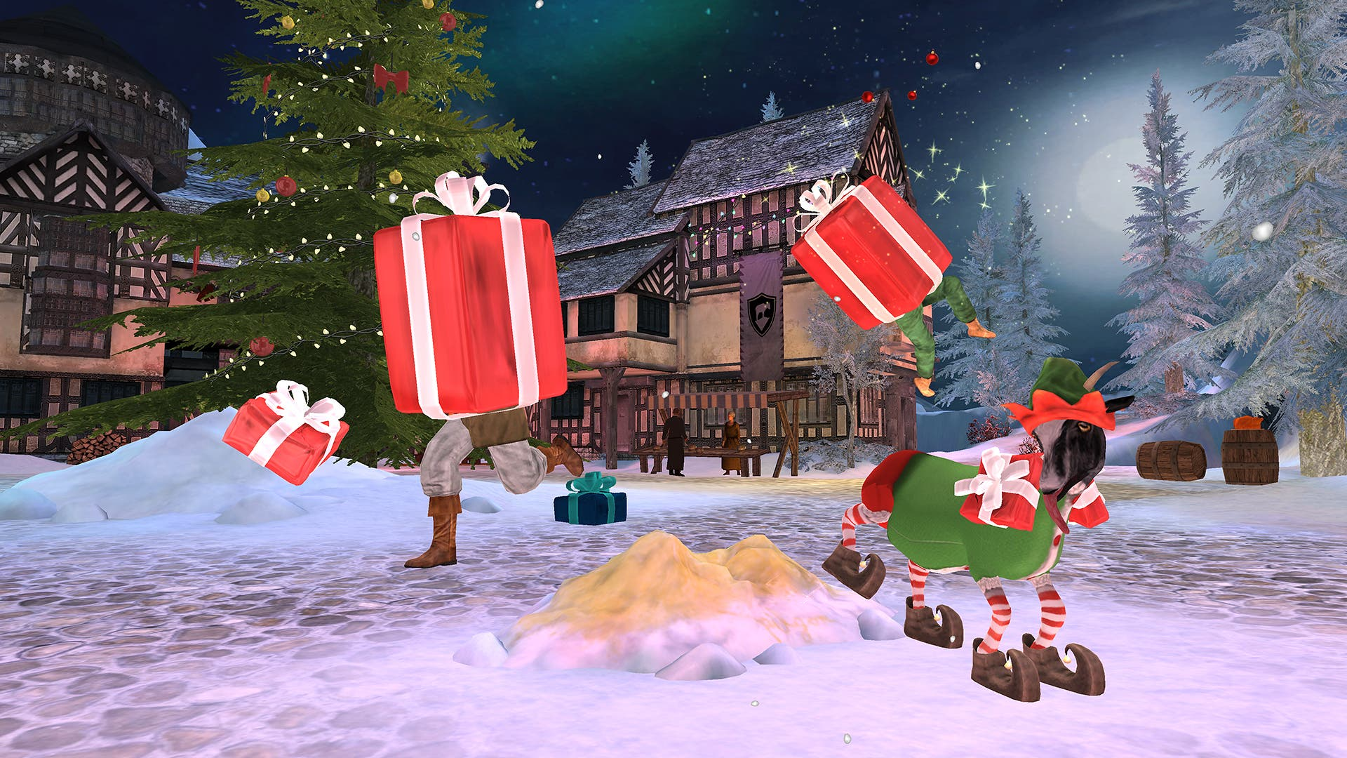 Goat MMO Simulator gets free winter level,