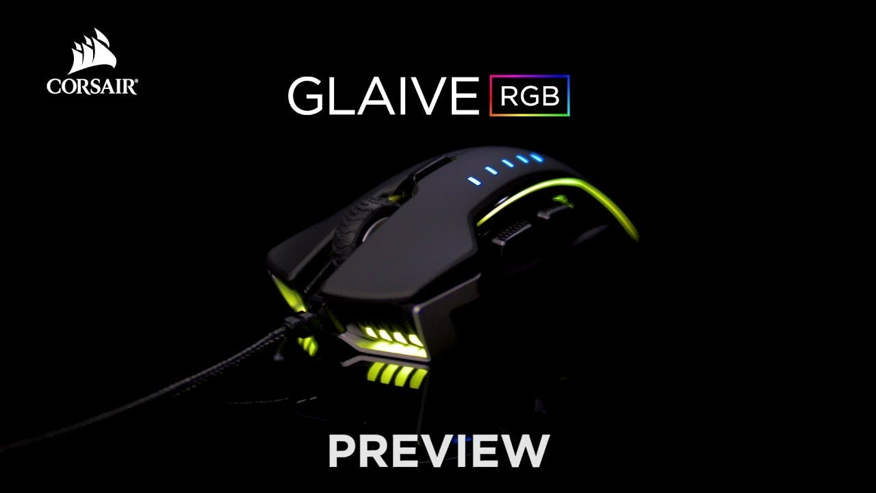 CORSAIR GLAIVE RGB Gaming Mouse lets you change out