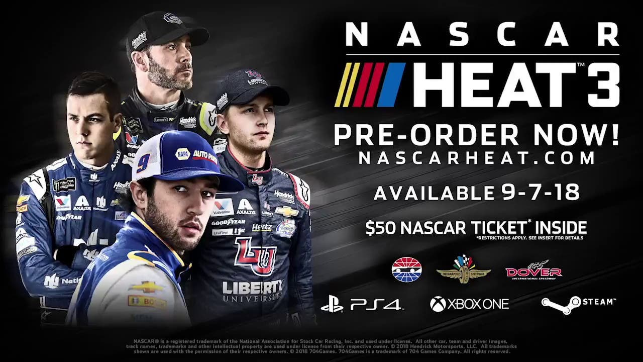 nascar heat 3 announced will rel