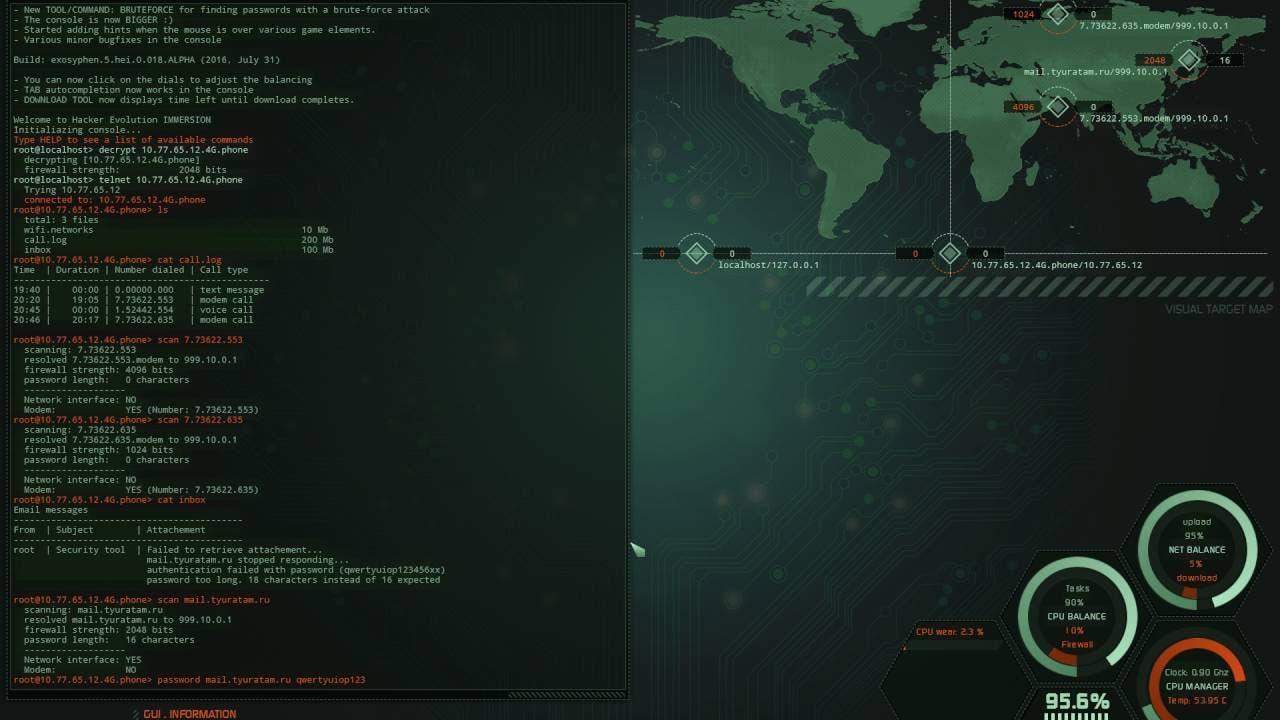 hacker evolution immersion gets