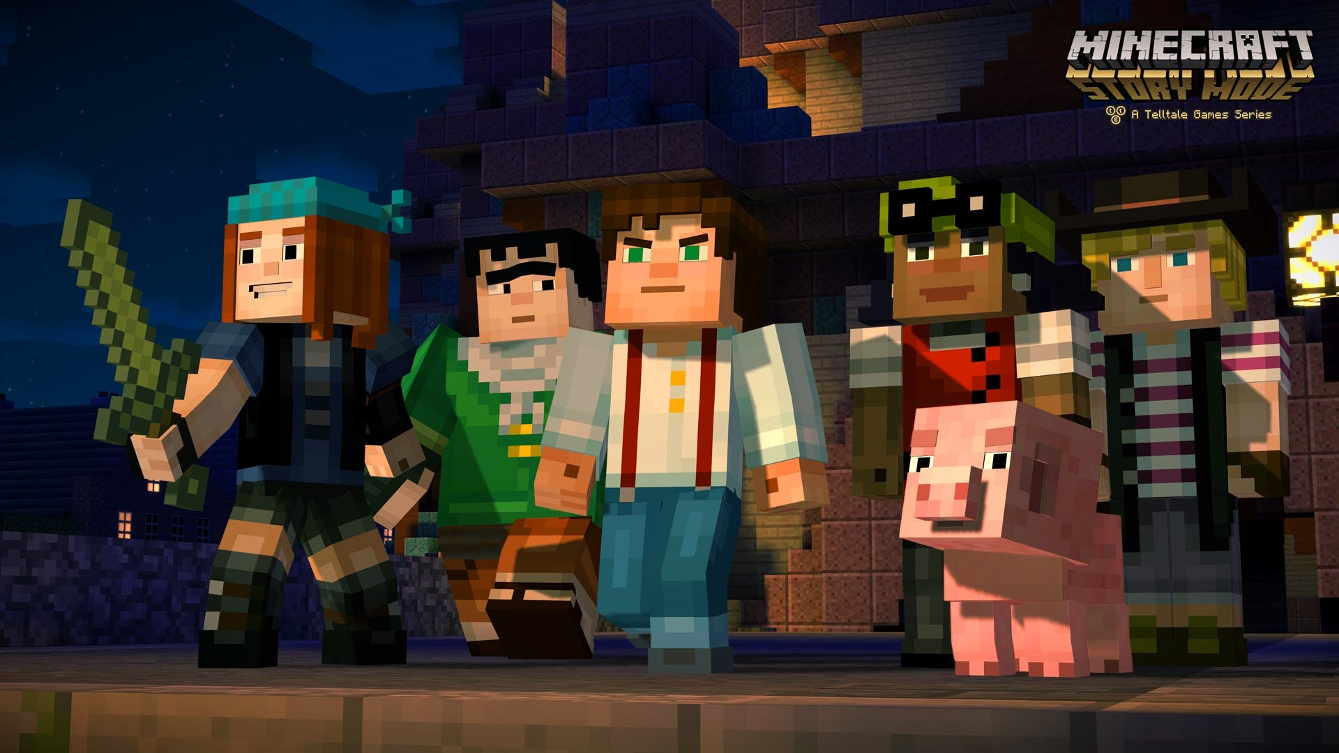 heres minecraft story mode trail