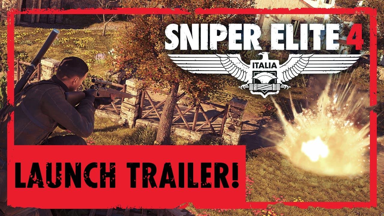 sniper elite 4 launch trailer ex