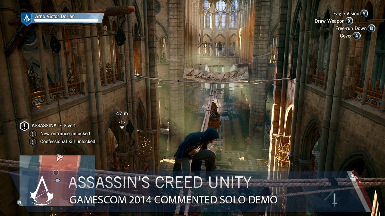 Watch 11 Minutes Of New Assassin S Creed Unity Gameplay From
