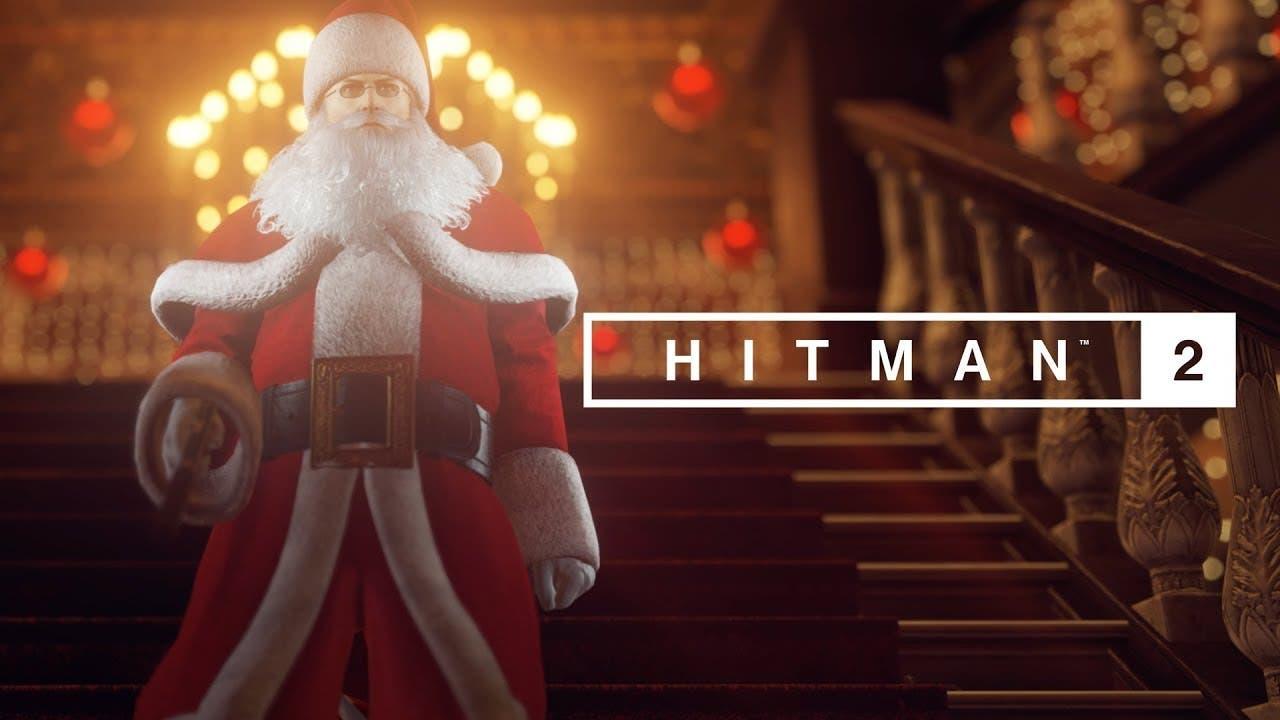 hitman 2 celebrates christmas wi