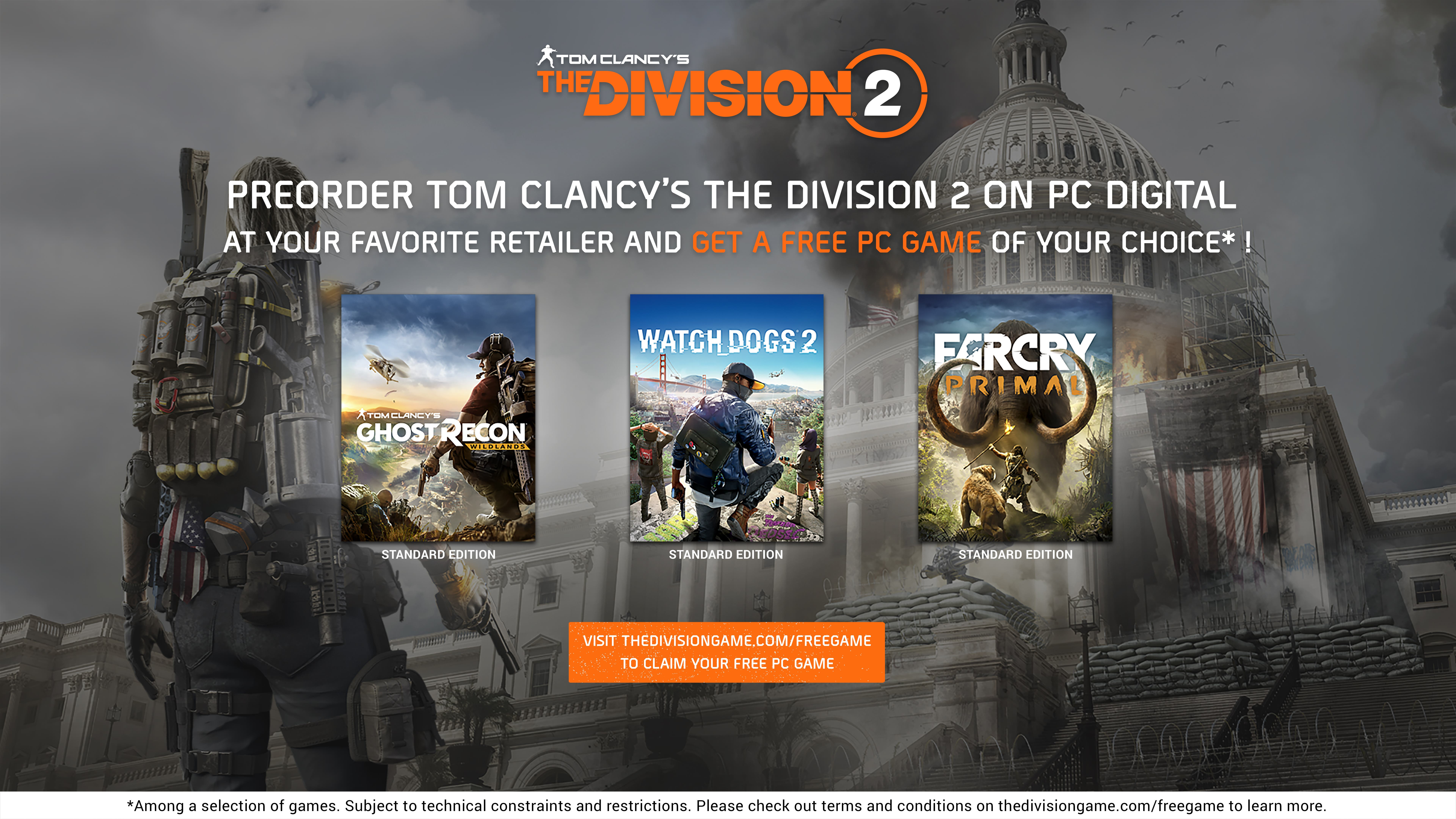 Pre-order the digital version of Tom Clancy's The Division 2