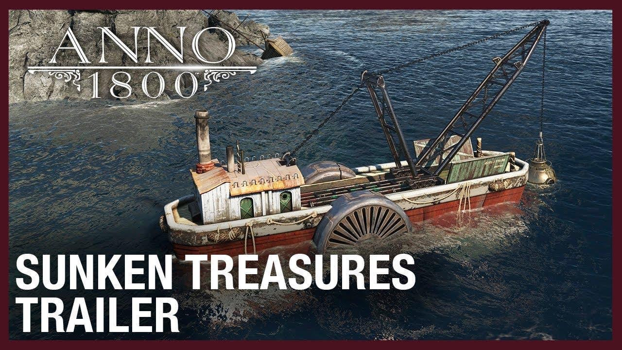 anno 1800 explores sunken treasu