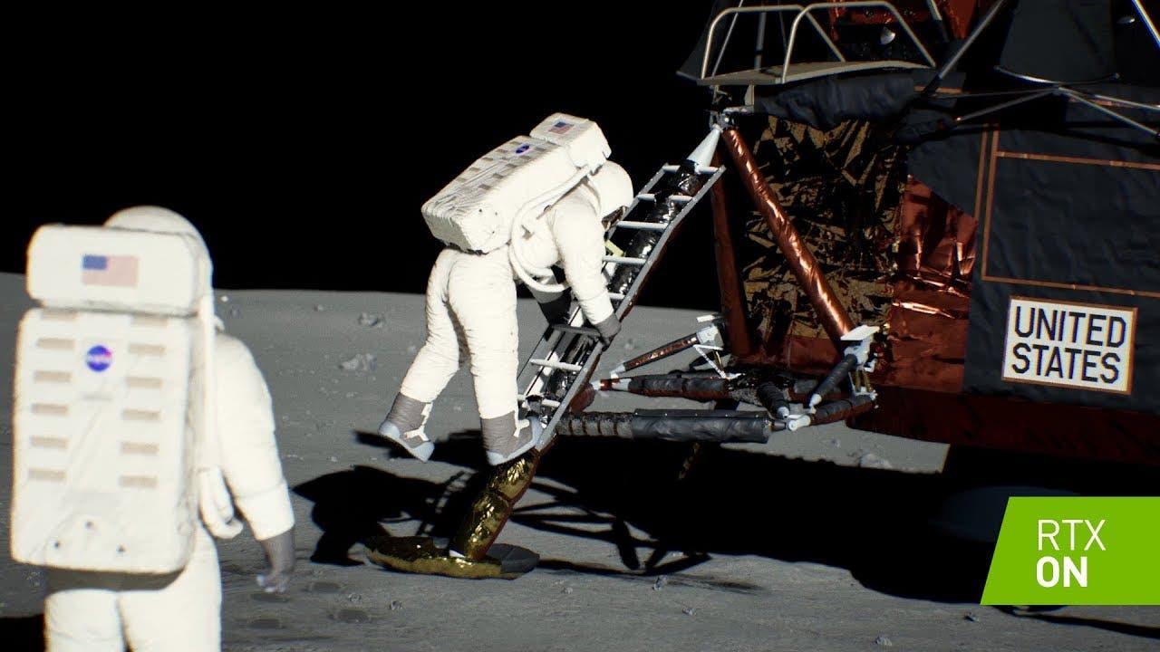 nvidia recreates apollo 11 moon