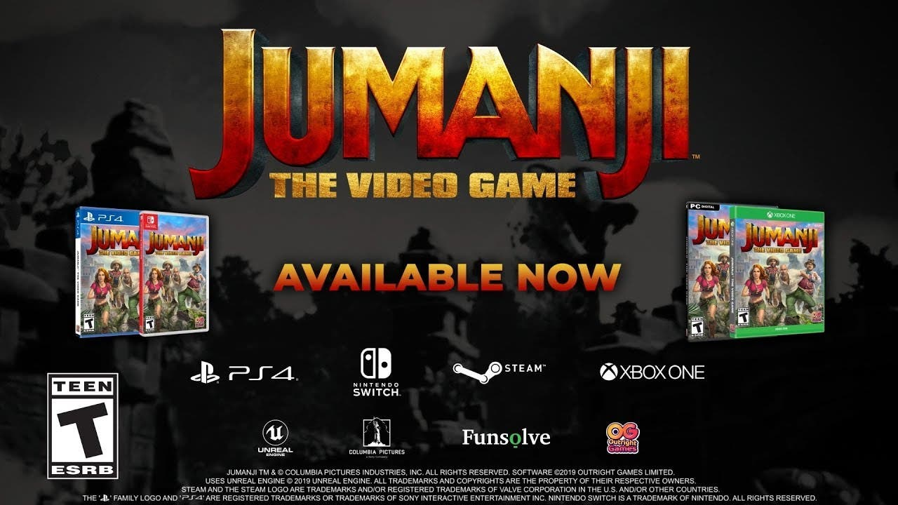 jumanji the video game now avail