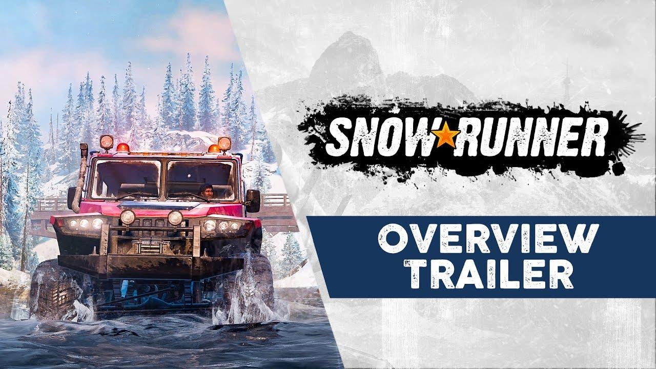 snowrunner trailer gives an over
