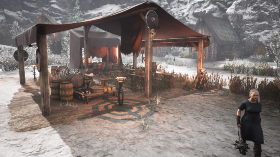 Villager and mead tent 2