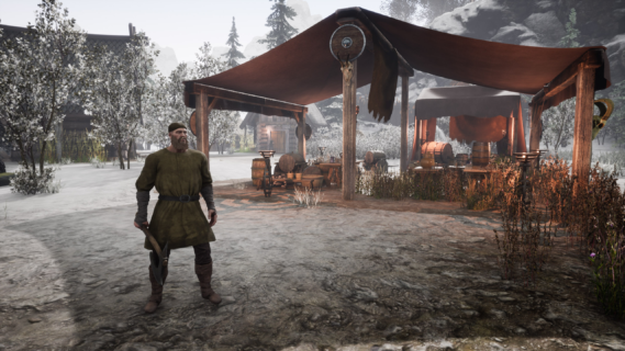 Villager mead tent
