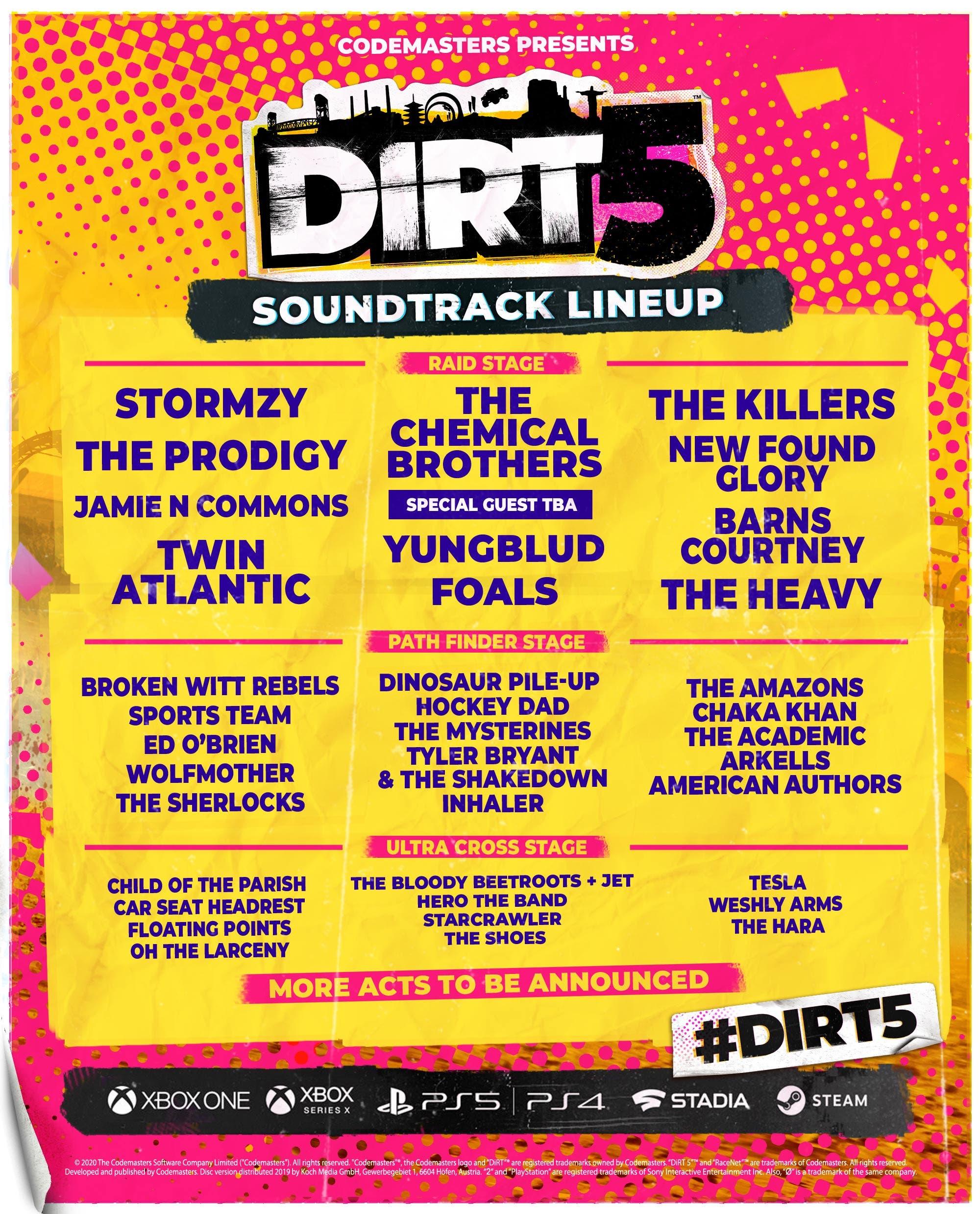 DIRT5 Soundtrack promo