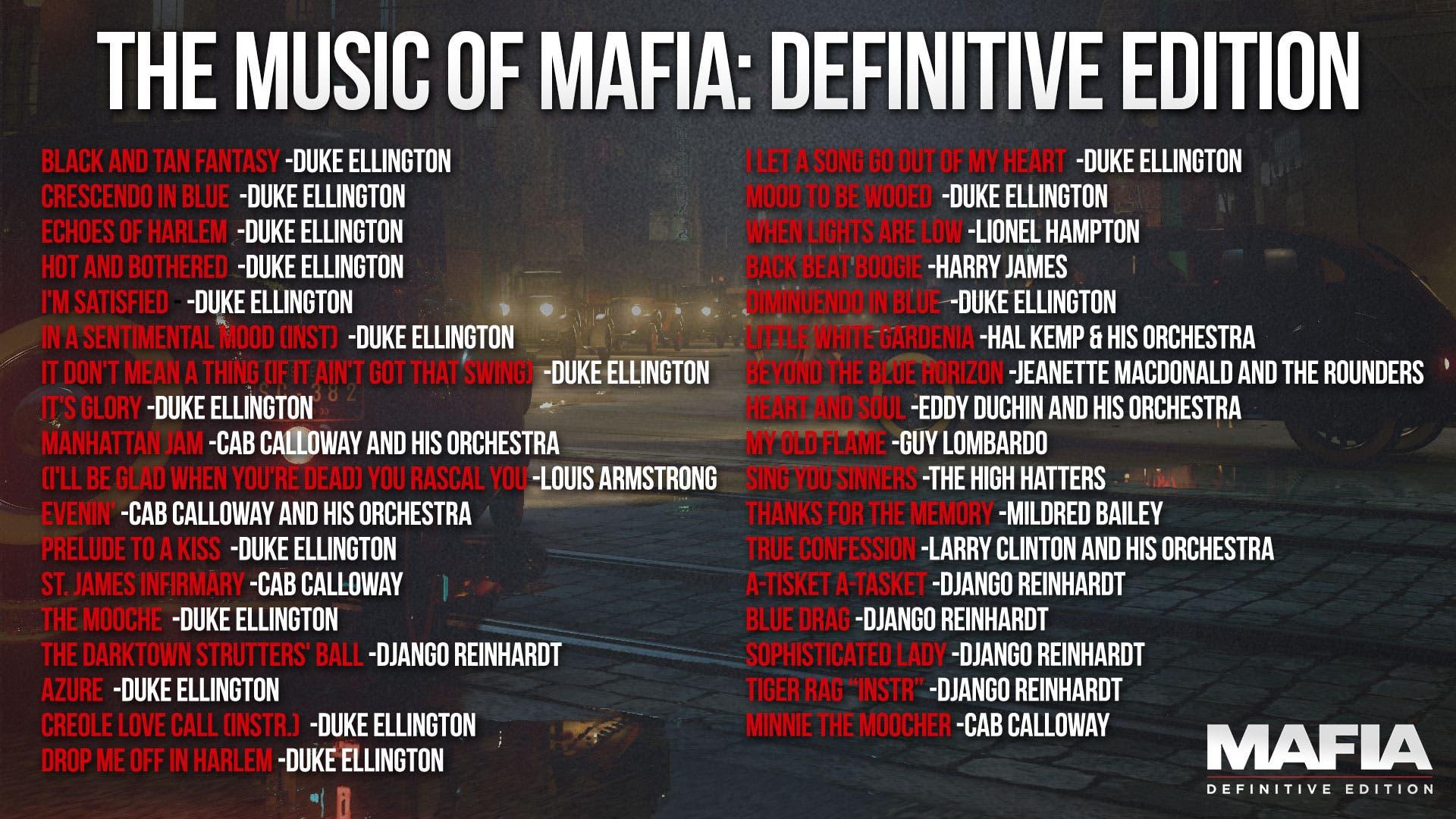 Mafia DE Track List 1920x1080