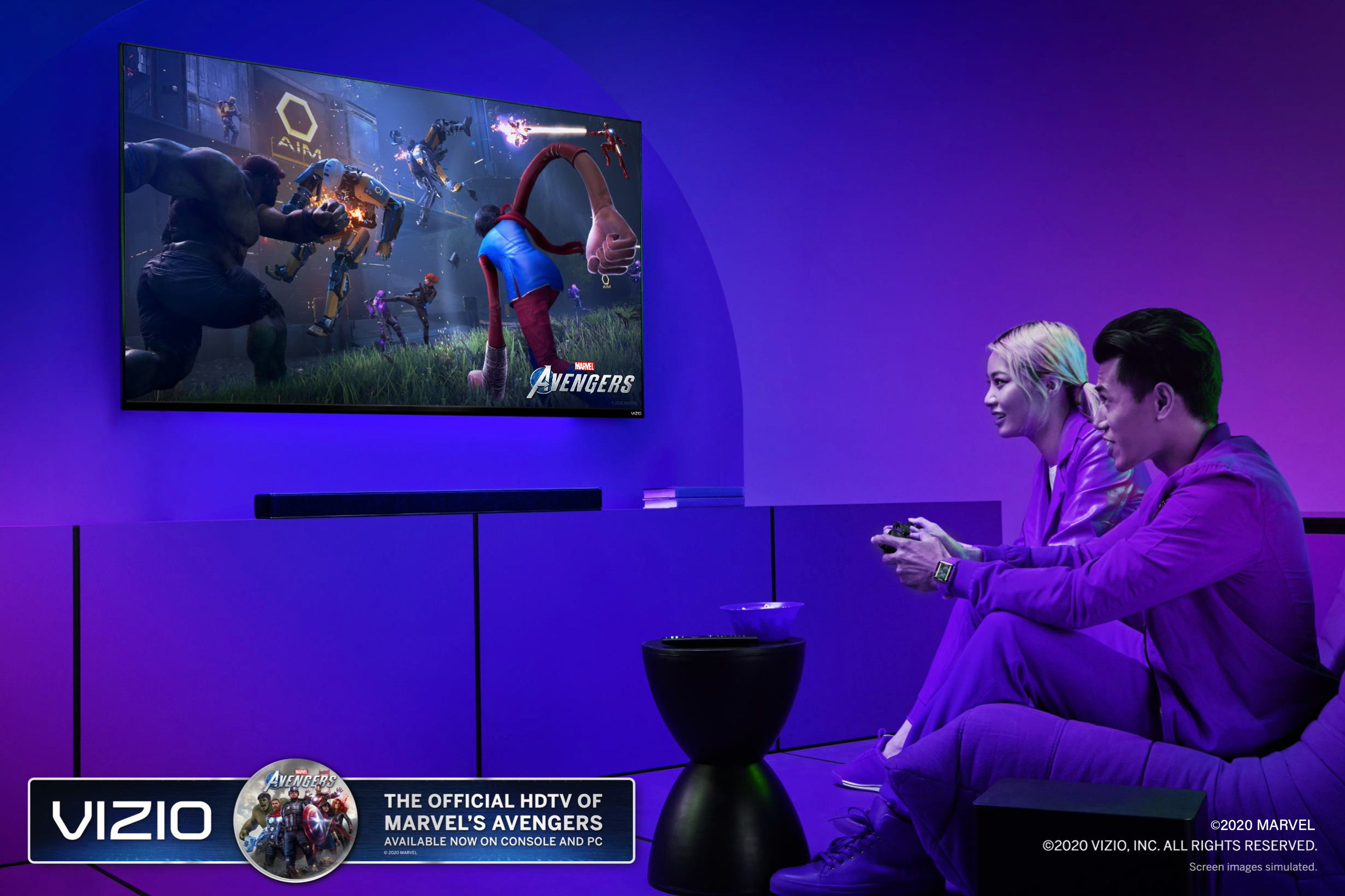 Vizio Marvels Avengers Screen