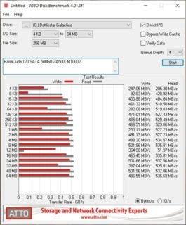atto SeagateBarraCuda120SATA500GB