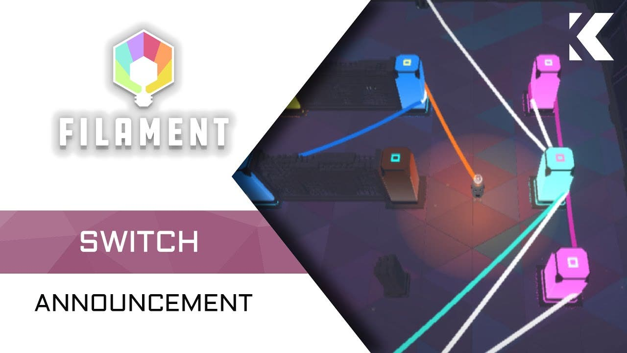 filament comes to switch with it