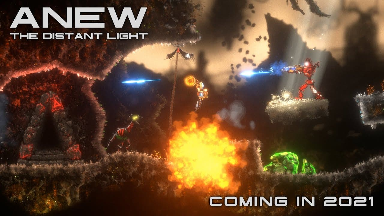 anew the distant light announced