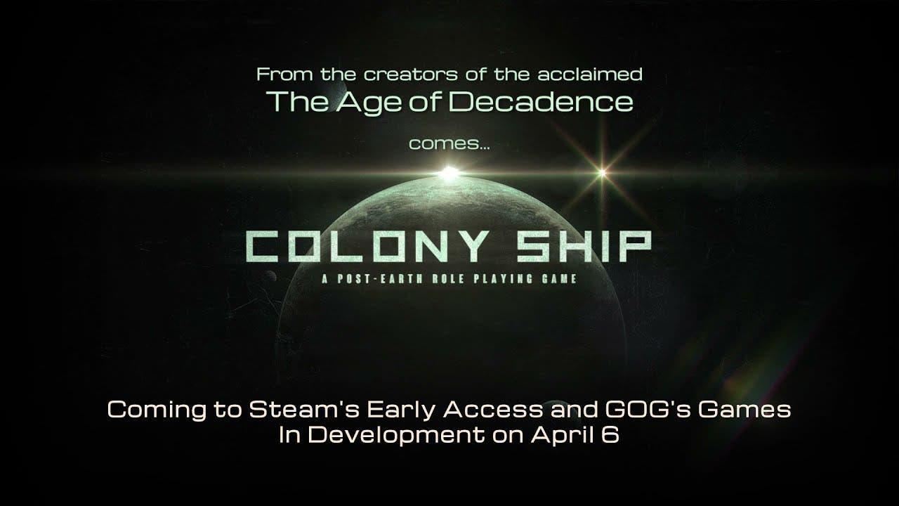 colony ship a post earth role pl