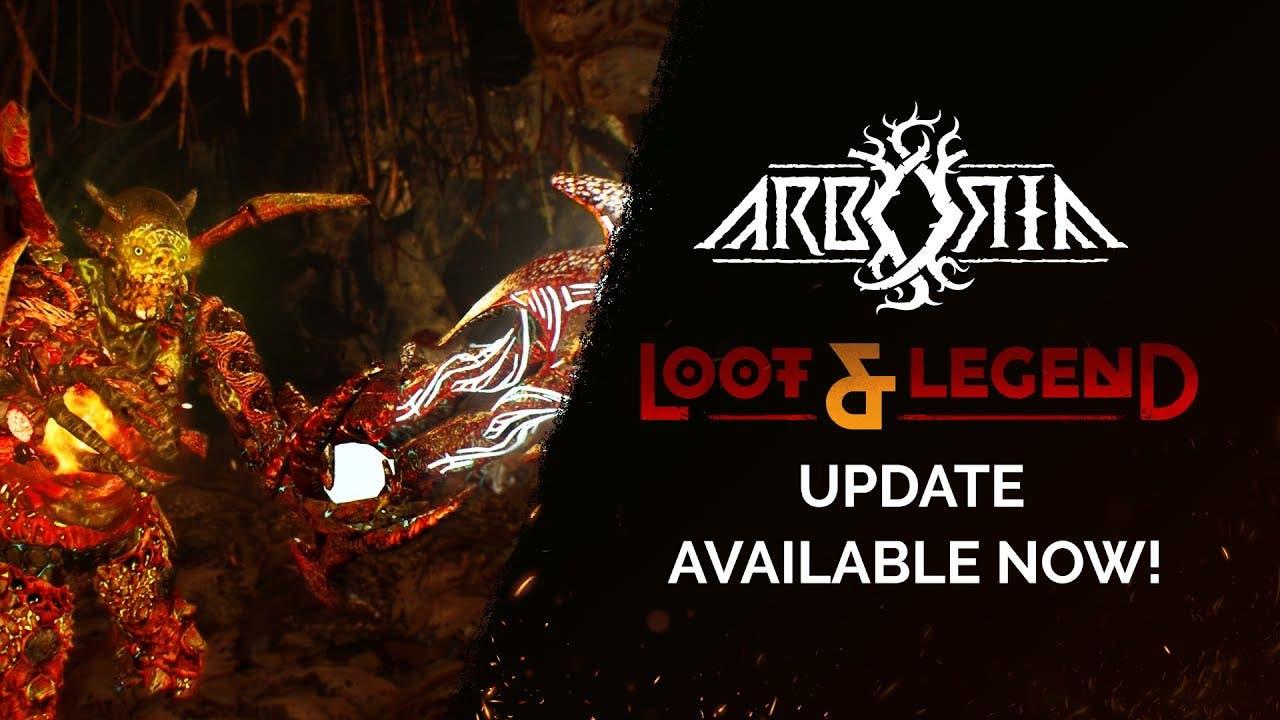 arboria loot legend update is th
