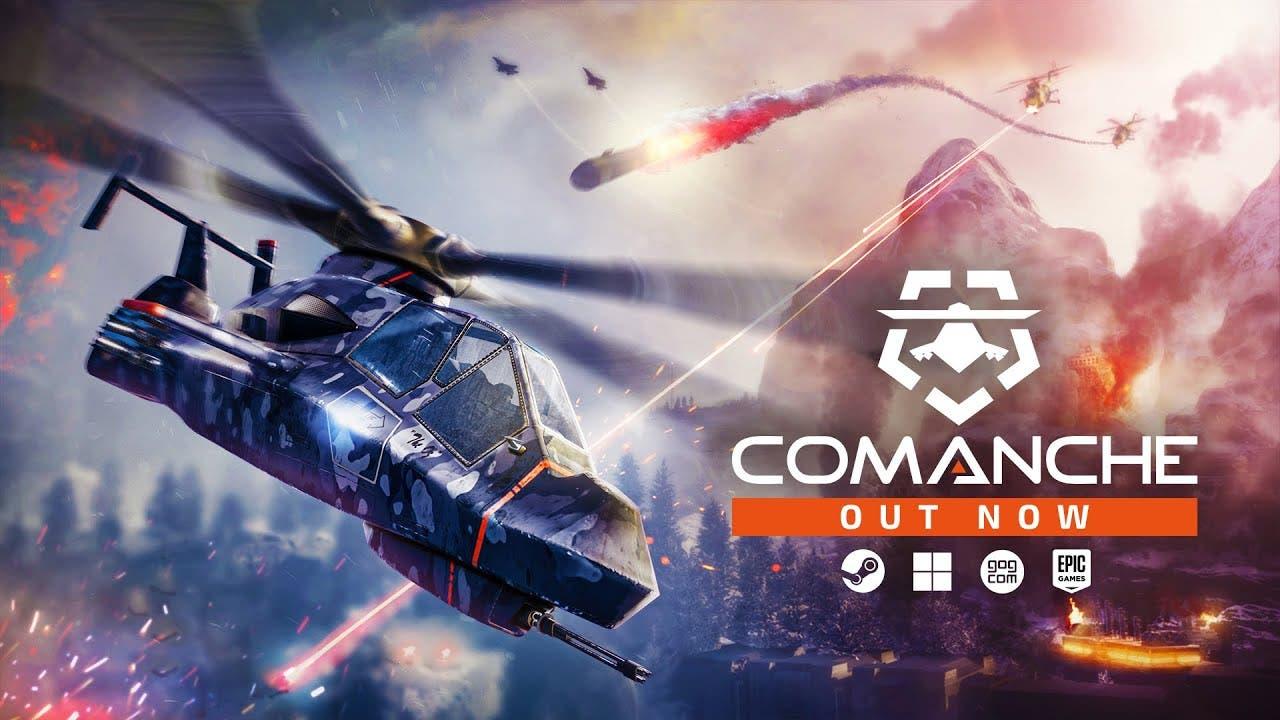 comanche takes flight as it leav