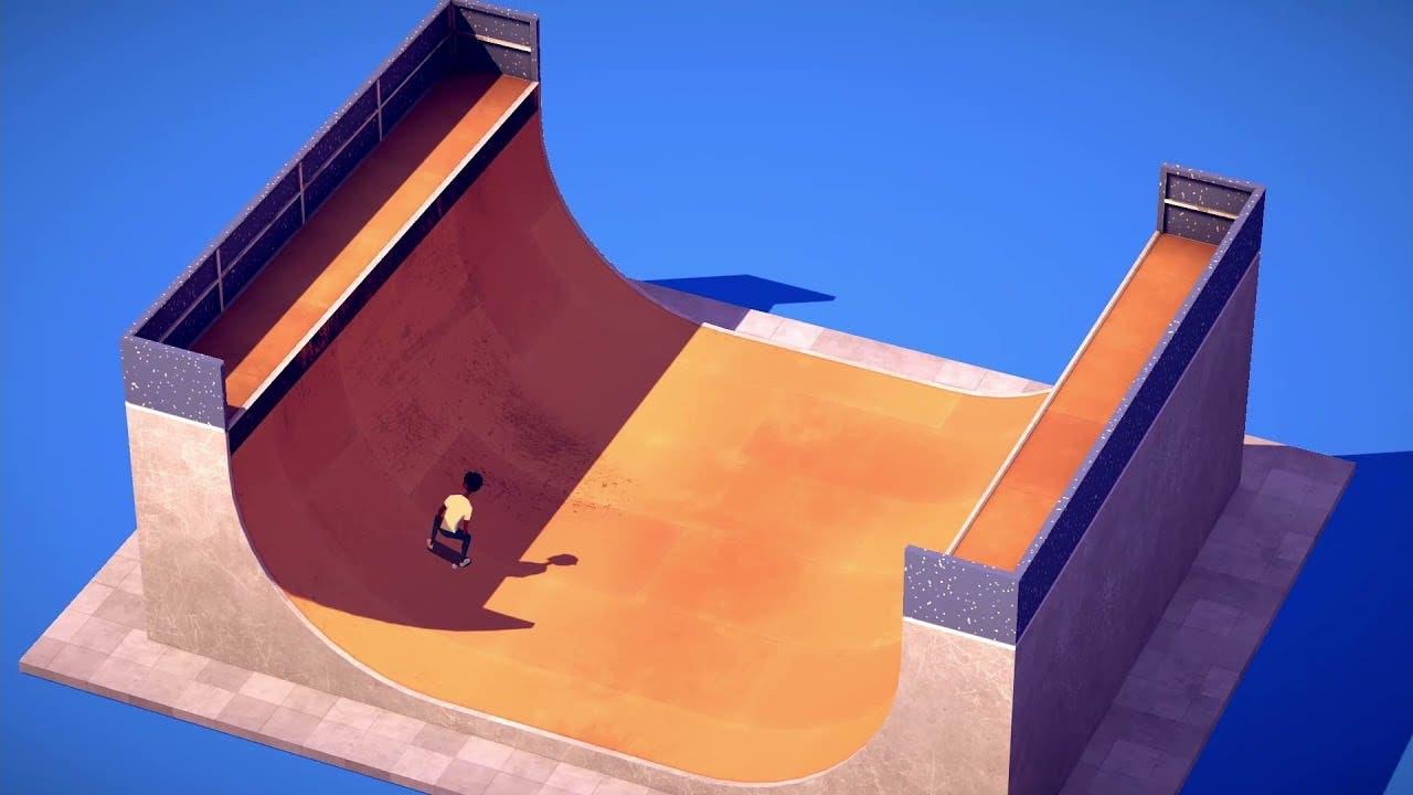 minimalist skateboarding game th